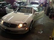 "sl500 Mercedes Alpine 8"" Installed"